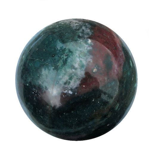 Bloodstone Heliotrope Crystal Scrying and Divination Ball 120mm 2.5kg (BS10)